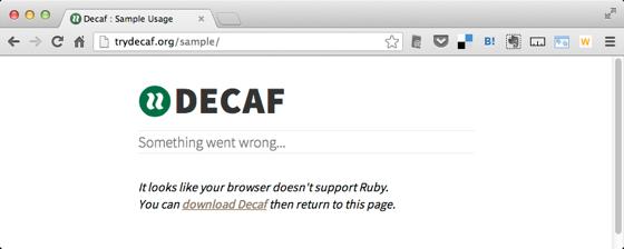 Decaf  Sample Usage 2