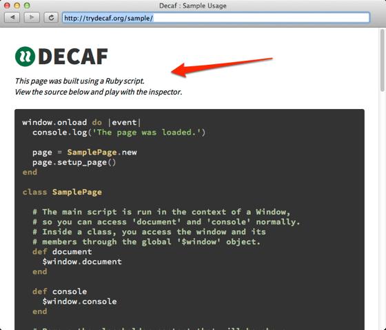 Decaf  Sample Usage