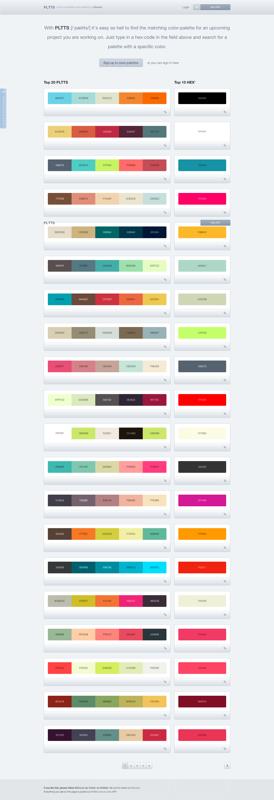 PLTTS  Find your colour palette