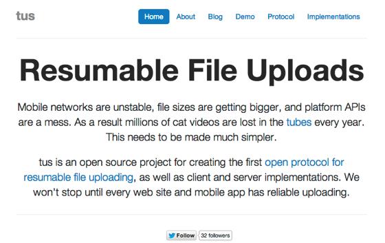 Resumable File Uploads