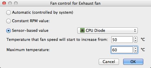Control sensor value