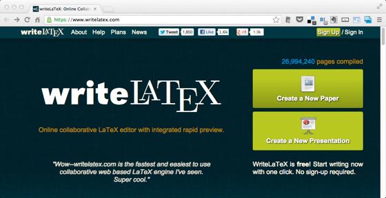 WriteLaTeX