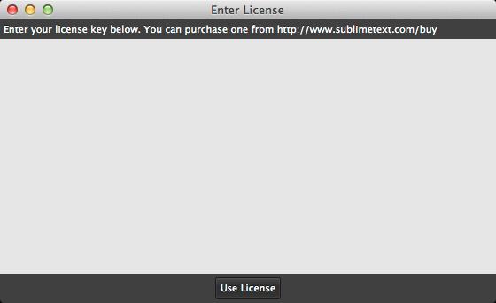 Enter License