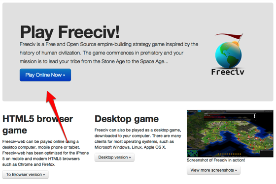 Freeciv web