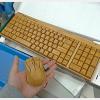 竹製のワイヤレスキーボード+マウスセット「KG201-N+MG94-N」