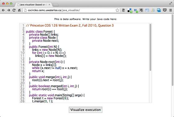 Java visualizer