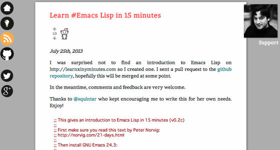 Learn  Emacs Lisp in 15 minutes