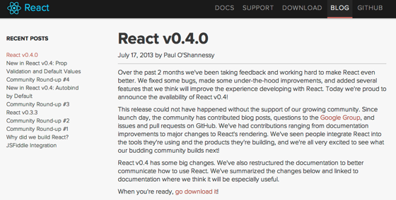 React | React v0 4 0