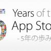 「Apple 5周年」特設ページ公開される