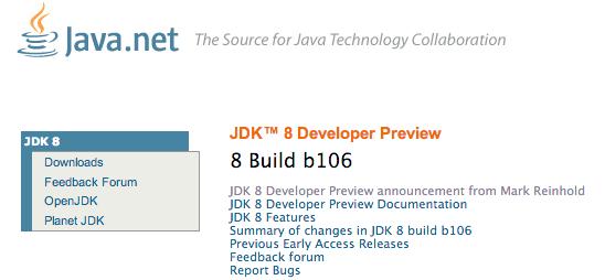 JDK8 Developer Preview