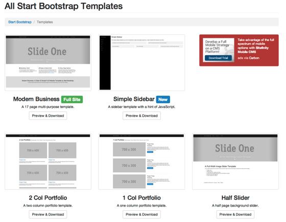 Start Bootstrap 1
