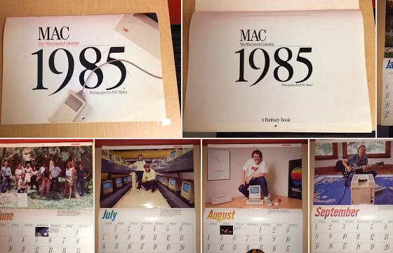 Macintosh 1985 calendar
