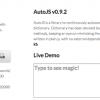 辞書ベースの補完が行えるJavaScriptライブラリ「AutoJS」