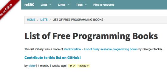ReSRC  List of Free Programming Books