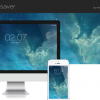iOS 7ロック画面風のスクリーンセーバー「iOS 7 screensaver for mac OS X」