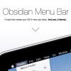 OS X Mavericksのメニューバーを黒に変更できる「ObsidianMenuBar」を使ってみた