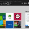 Windows 8 風のWebサイトを構築できる「Metro UI CSS」