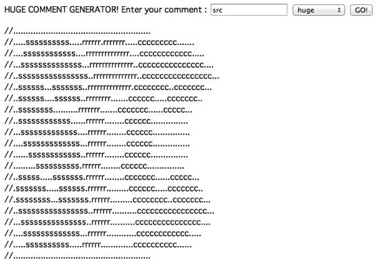 Huge Comment Generator  CodePen 1