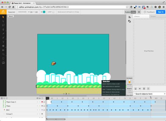 Flappy bird  Animatron