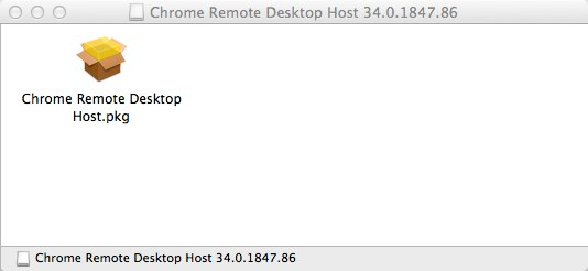 Chrome Remote Desktop Host 34 0 1847 86