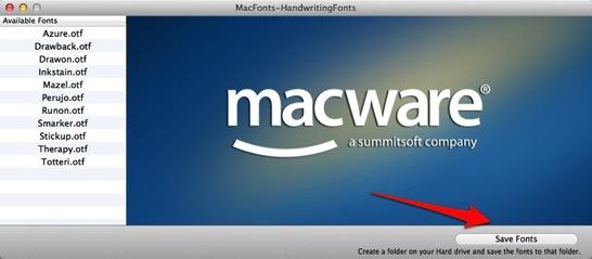 MacFonts HandwritingFonts