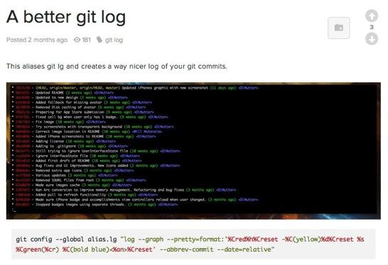 A better git log