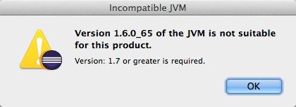 Incompatible JVM