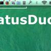 Macのメニューバーに起動中アプリのアイコンを表示できる画期的アプリ「StatusDuck」