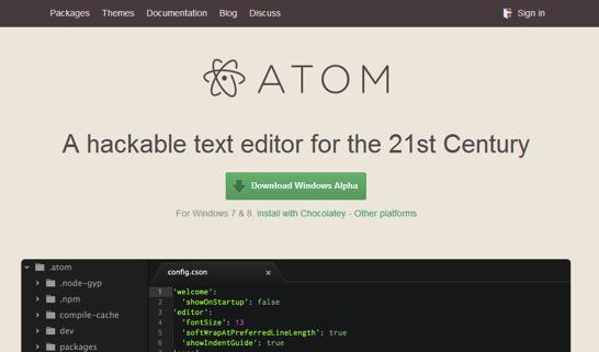 Atom for windows