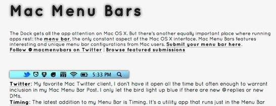 Mac Menu Bars