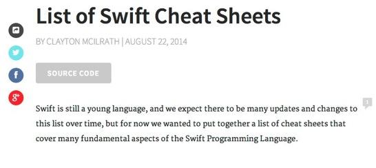 SwiftCheatSheets