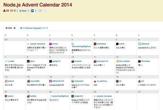 Node js Advent Calendar 2014  Qiita 1