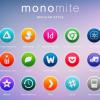 OS X Yosemiteにインスパイアされた680以上のフリーアイコンセット「Monomite」