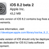 Apple、開発者向けに「iOS 8.2 beta 2」と「Xcode 6.2 beta 2 with WatchKit」をリリース