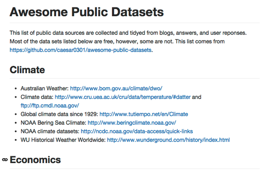 Awesome public dataset 1