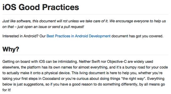 Ios good practices