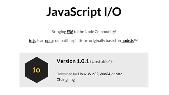 JavaScript I O