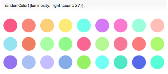 Random color generator for JavaScript  randomColor js
