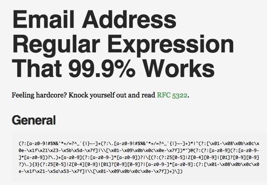 Email Regex