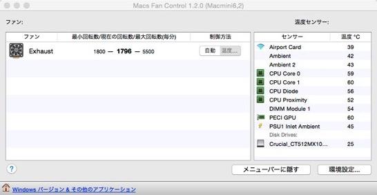 Macs Fan Control 1 2 0  Macmini6 2