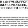 「Docker 1.5」リリース - IPv6、リードオンリーコンテナ等をサポート