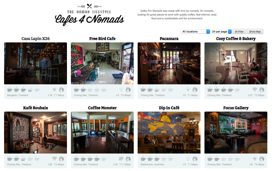 Cafes For Nomads Great places for nomads to work