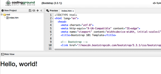 Try Bootstrap Online