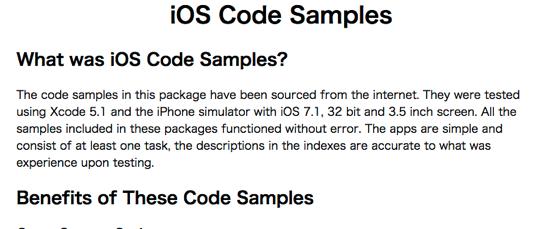 IOS Code Samples