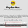 Tiny for Mac - スクリーンショットの名前を自動で分かりやすくリネームしてくれるメニューバーアプリ