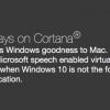 Parallels Desktop 11で、MacユーザーもWindows 10のCortanaを使用可能になる!かも