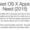 掘り出し物Macアプリがあるかも?なサイト「73 Best OS X Apps You Need (2015)」