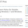 【朗報】Microsoft、Skylake搭載デバイスのWindows 7/8.1サポート期間を2018年7月17日まで延長へ