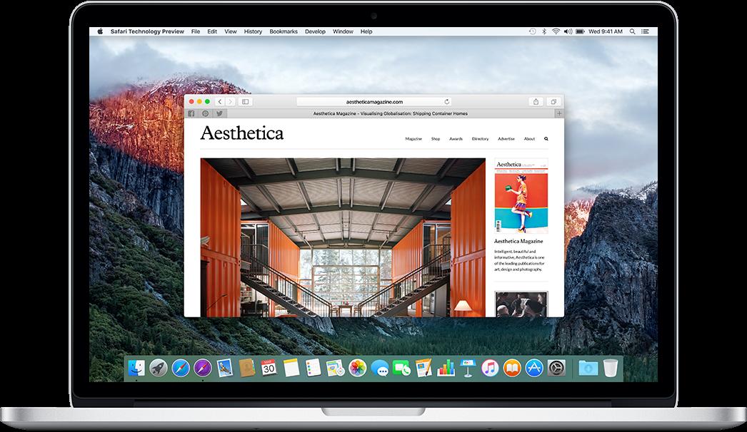 Tech preview screenshot