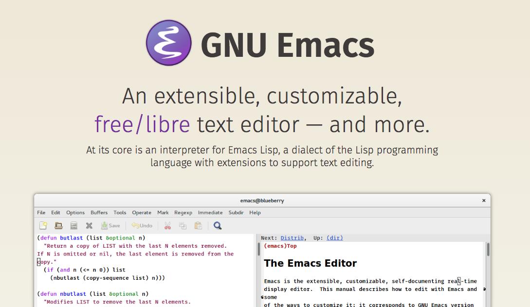 GNU Emacs」公式サイトがモダン...